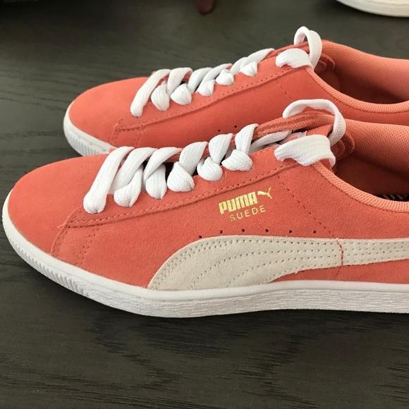 PUMA Salmon Colored Suede Women s Sneakers NWOB 99ec0745d